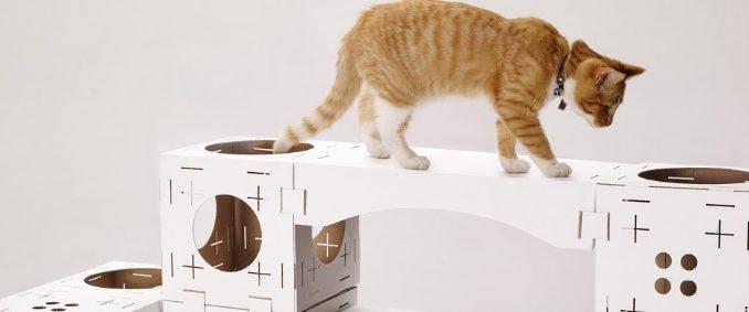 Arbre à chat en tissu